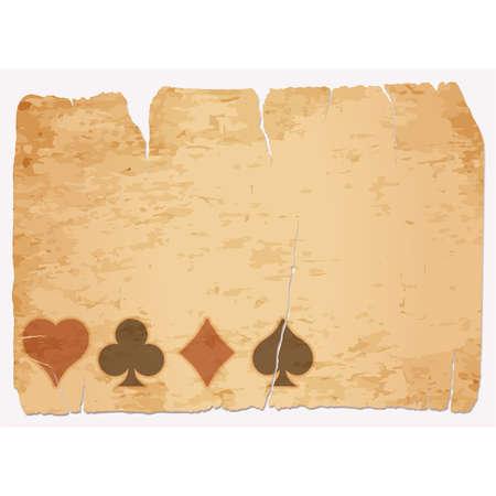 Casino poker vintage banner, vector illustration Vetores