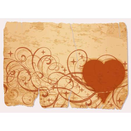 Vintage casino vip poker hearts, vector illustration