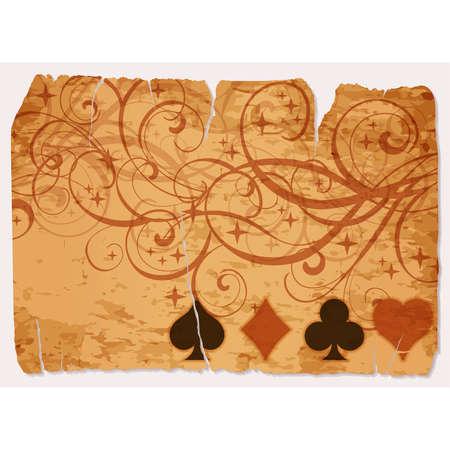 Vintage casino poker vip card, vector illustration Ilustração