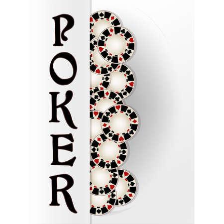 Casino Poker banner, vector illustration