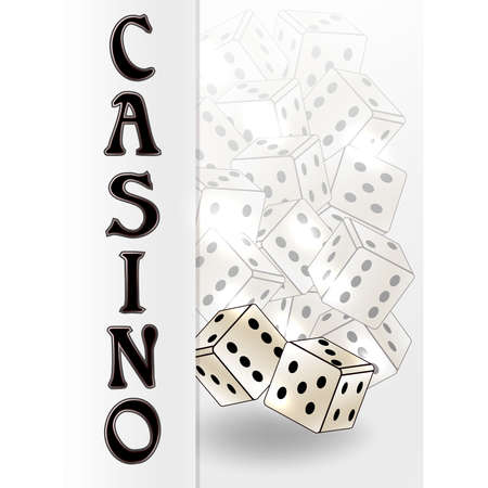 Casino invitation banner, vector illustration