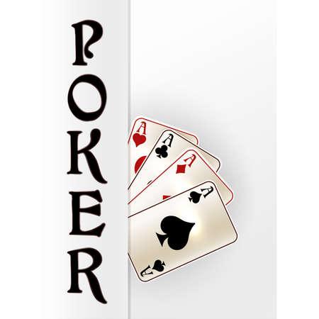 Casino Poker invitation banner, vector illustration