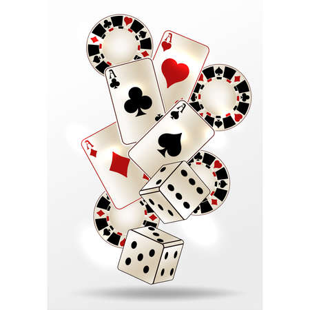 Casino poker invitation card, vector illustration Ilustração