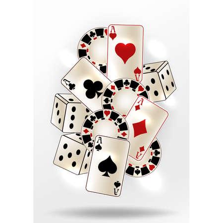 Poker Casino vip card, vector illustration Ilustração