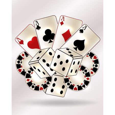 Casino poker vip card, vector illustration Ilustração