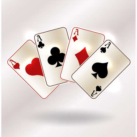 Casino poker cards vip background, vector illustration
