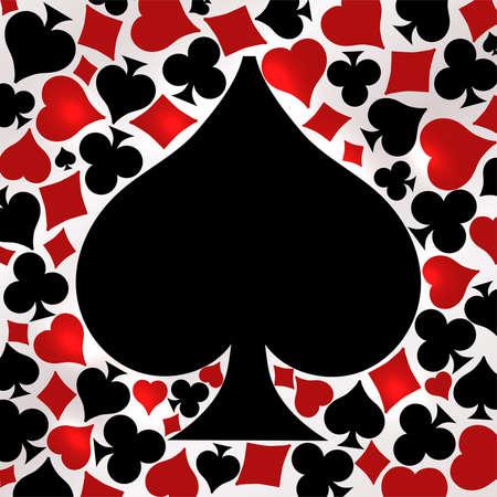 Poker spade card, vector illustration Ilustração