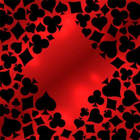 Diamonds Poker card, vector illustration