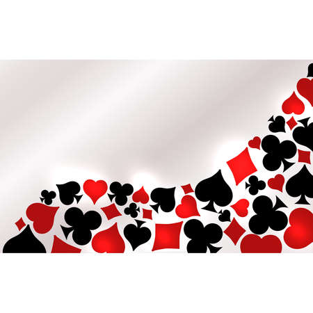 Casino Poker invitation vip banner, vector illustration
