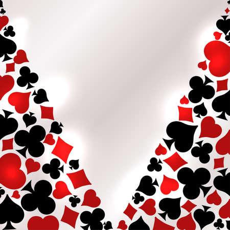 Casino Poker invitation vip card, vector illustration