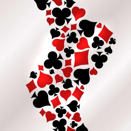Casino Poker vip card, vector illustration