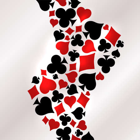 Casino Poker vip card, vector illustration