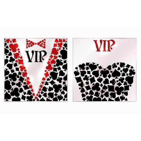 Casino poker vip invitation card, vector illustration