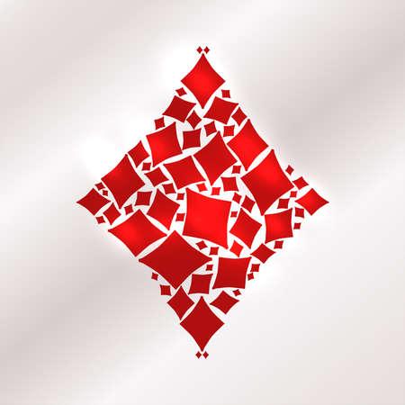Diamonds poker casino card, vector illustration