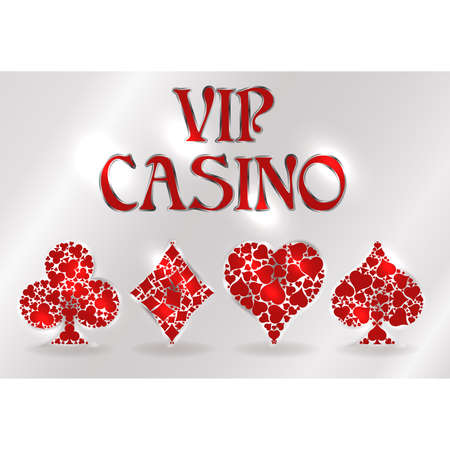 Vip Casino greeting card, vector illustration