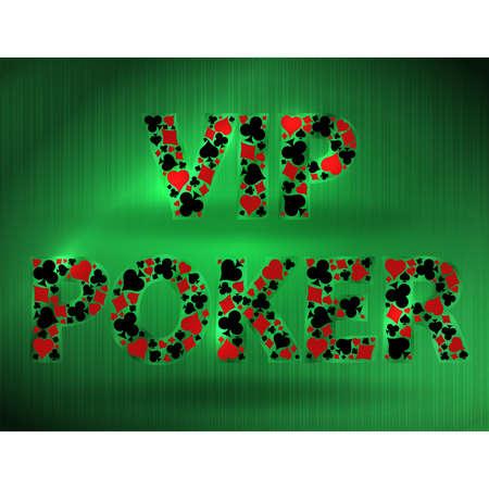 Vip Casino Poker card, vector illustration