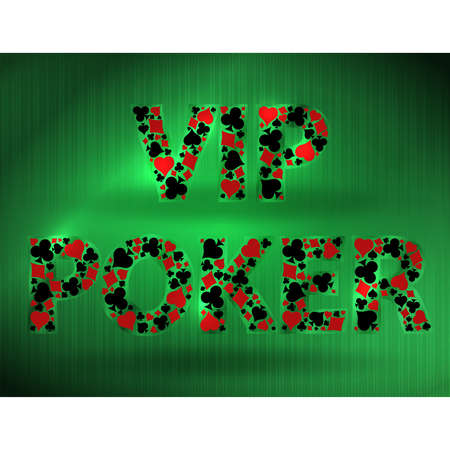 Vip Casino Poker card, vector illustration