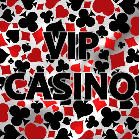 Vip Casino invitation card, vector illustration