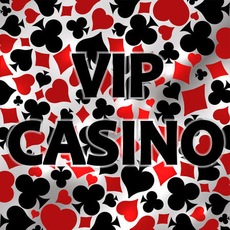 Vip Casino invitation card, vector illustration