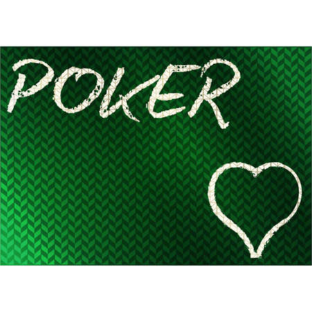 Casino chalk drawing hearts poker card, vector illustration