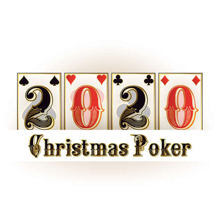 Christmas casino banner, New 2020 year. vector illustration