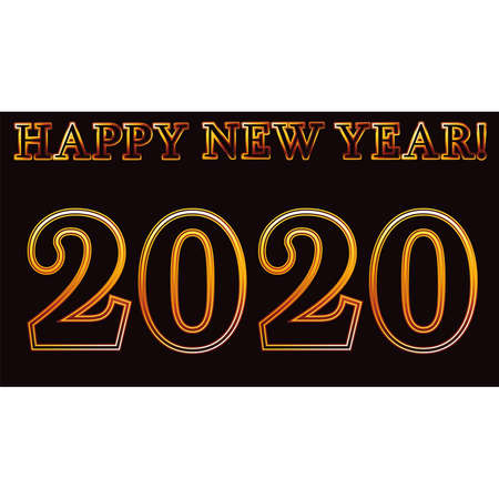 New 2020 year banner, vector illustration