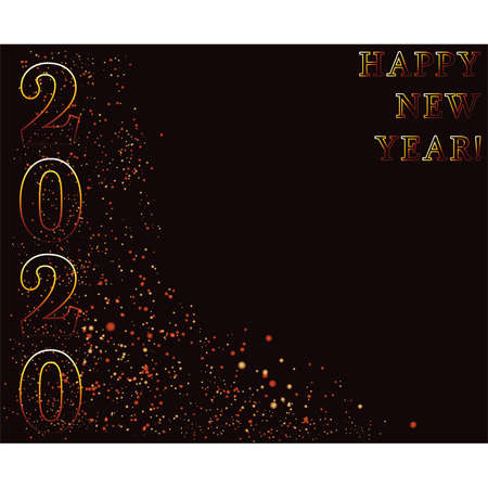 Happy new 2020 year invitation background, vector illustration