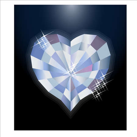 Diamond heart invitation card, vector illustration Illusztráció