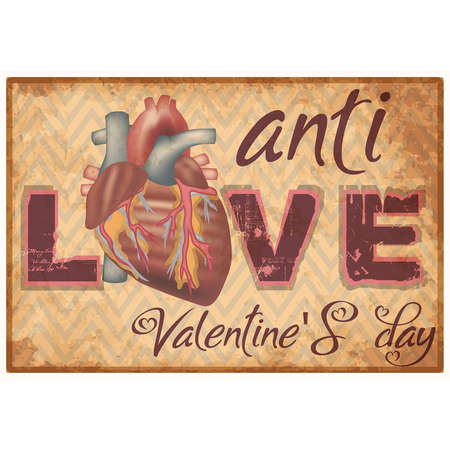Anti Valentine's day banner, vector illustration