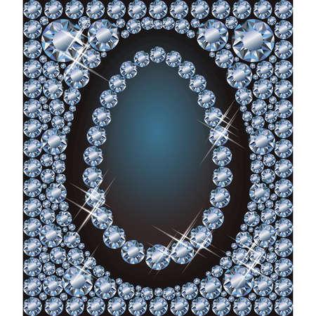 Happy Easter diamond egg background, vector illustration