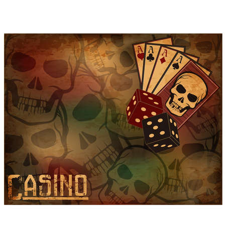 Casino poker cards background, vector illustration Vektoros illusztráció