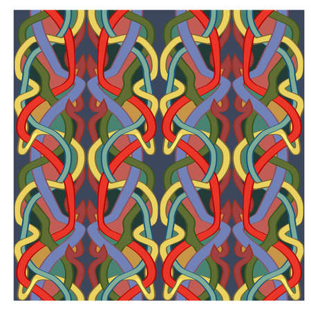 Vintage art nouveau style, seamless pattern, vector illustration