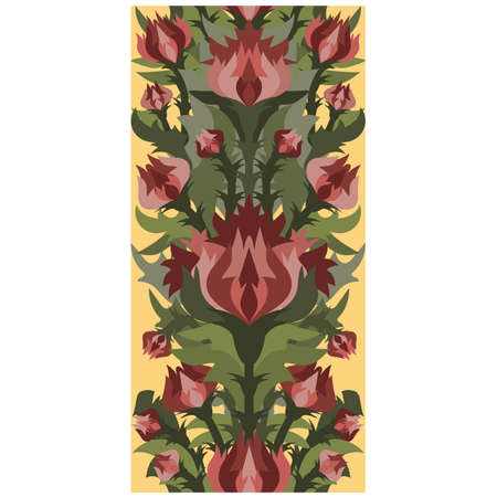 Floral seamless banner in art nouveau style, vector illustration