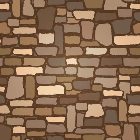 Stone Castle Wall background seamless , vector illustration