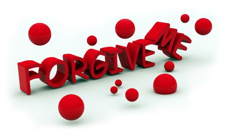 forgive: forgive red text on white background