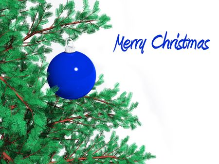 detail of a christmas tree. FIND MORE christmas decorations in my portfolio Stock Photo - 3785772