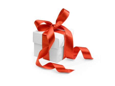 present with red ribbon on white background. FIND MORE presents in my portfolio photo