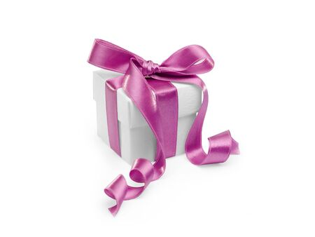 present with pink ribbon on white background. FIND MORE presents in my portfolio photo