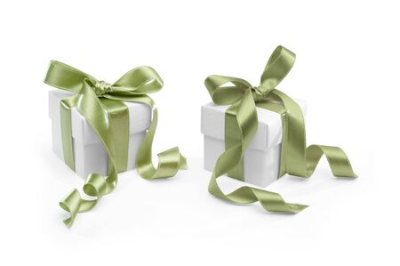 two present boxes on white background. FIND MORE presents in my portfolio photo