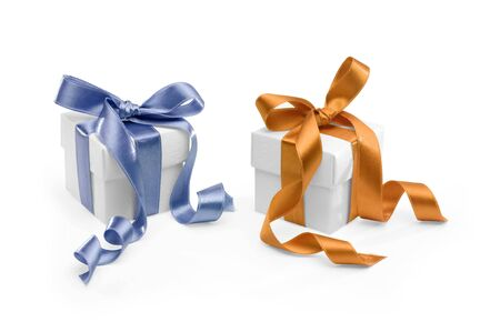 two presents on white background. FIND MORE presents in my portfolio photo