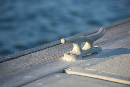 cleat: Boat mooring cleat