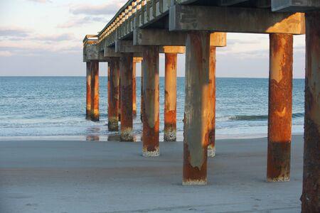 Rusty Atlantic Pier Stok Fotoğraf