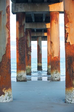 corroded: Corroded pier