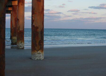 Saint Augustine beach at sunset