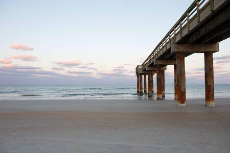 Saint Augustine beach sunset Stok Fotoğraf