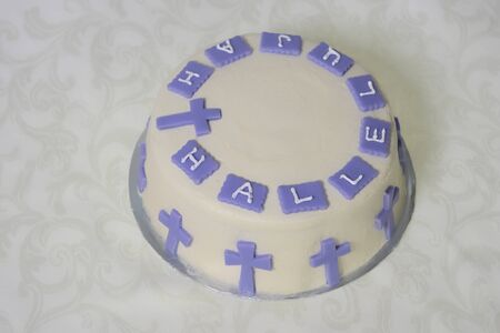 hallelujah: Celebration cake Stock Photo