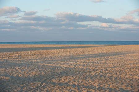 Atlantic beach at sunset
