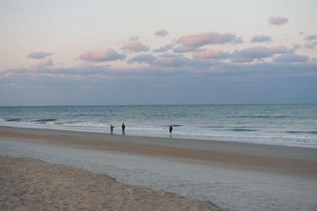 FIgures on a beach Stok Fotoğraf