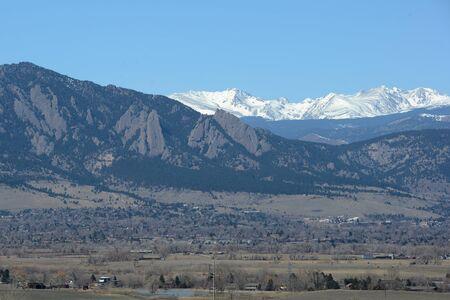 longs peak: Flatirons at Boulder