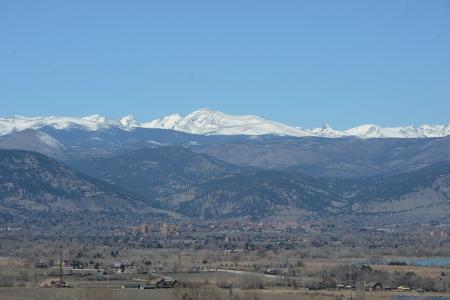 divides: Continental brecha por encima de Boulder Foto de archivo